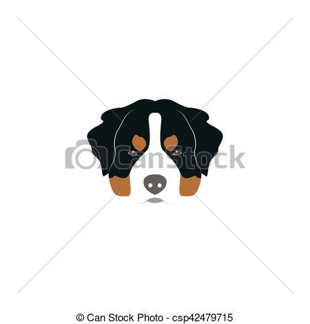 Bernese Mountain Dog clipart head  dog head of csp42479715