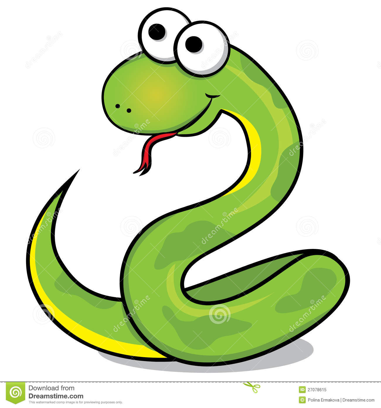 Serpent clipart easy cartoon Search Snake Pictures ced1495 Kids