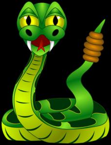 Rattlesnake clipart mean #1