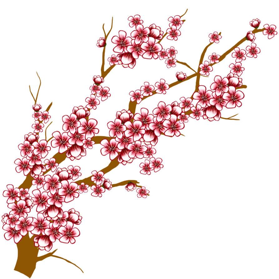 Sakura clipart japanese cherry blossom #7