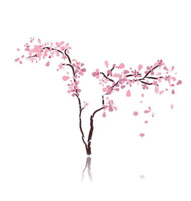 Sakura Blossom clipart divider #9