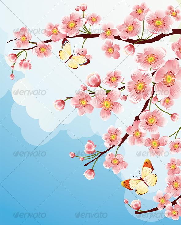 Sakura Blossom clipart kartun #6