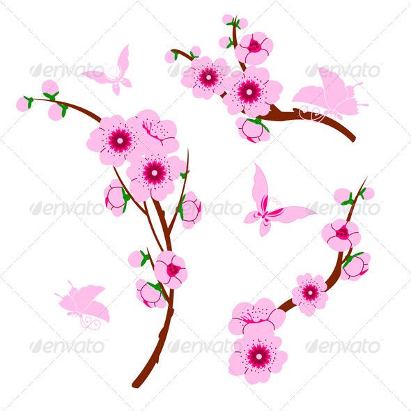 Sakura Blossom clipart kartun #2