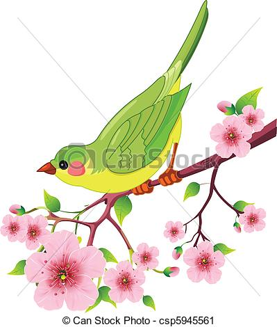 Sakura clipart bird cute #8