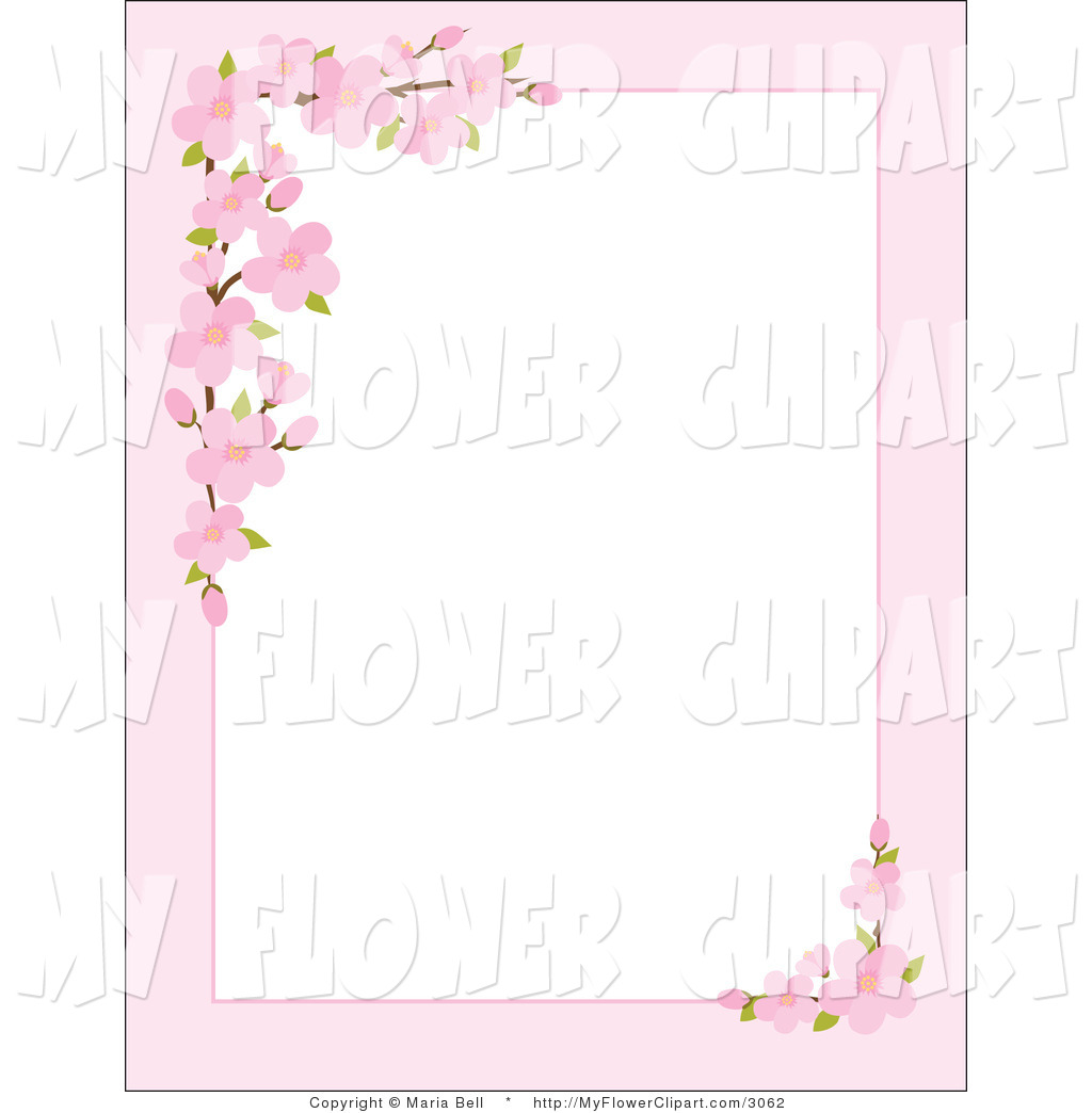 Blossom clipart frame Borders Solid  color clipart