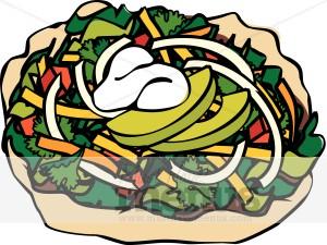 Salad clipart animated Salad Cartoon Taco Bat Clipart