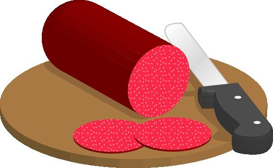Salami clipart Clip Sliced  Free Salami