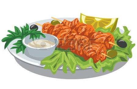 Salmon clipart grilled fish #5