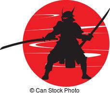 Samurai clipart Silhouette samurai art in 487