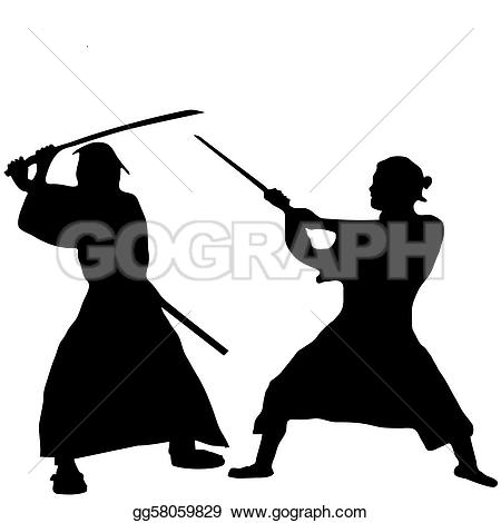 Samurai clipart · Samurai Royalty silhouettes Samurai