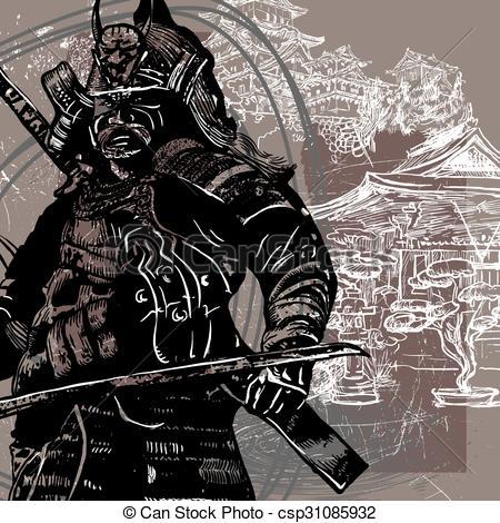Drawn samurai japanese shogun Culture  Japan from Japan