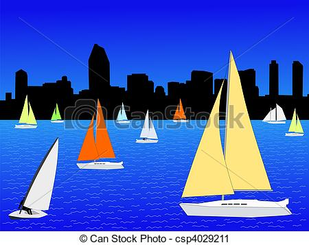 San Diego clipart Diego Clipart sailing San Yachts