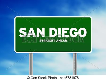 San Diego clipart And Diego Green California Sign