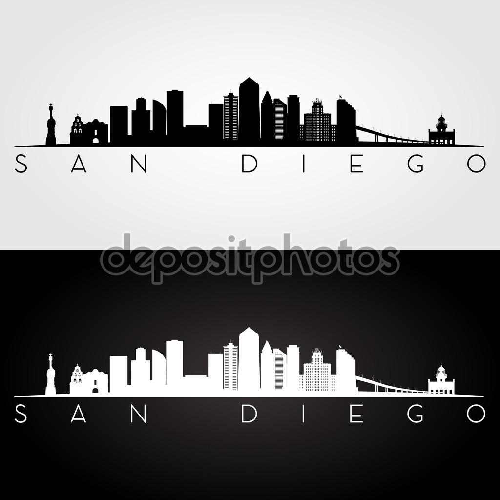 San Diego clipart Vectors San Vector silhouette Stock