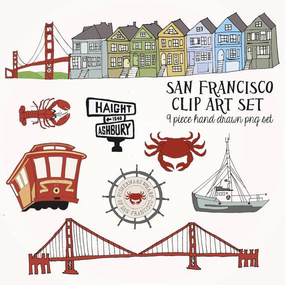 San Francisco clipart Clip Set DOWNLOAD INSTANT Clip
