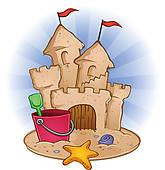 Sand Castle clipart Sand Beach Royalty Sand Castle