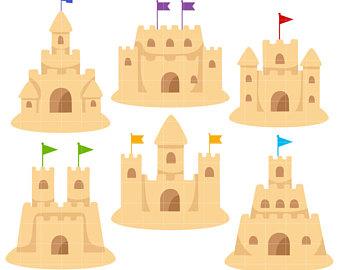 Sand Castle clipart Making Scrapbooking Crafts Art Castles