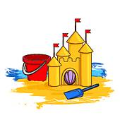 Sand Castle clipart Castle castle Free Cartoon Castle
