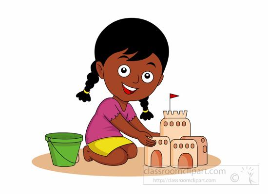 Sand Castle clipart child beach #15