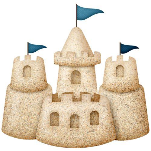 Sand Castle clipart hot summer season — ladylony on «скрап about