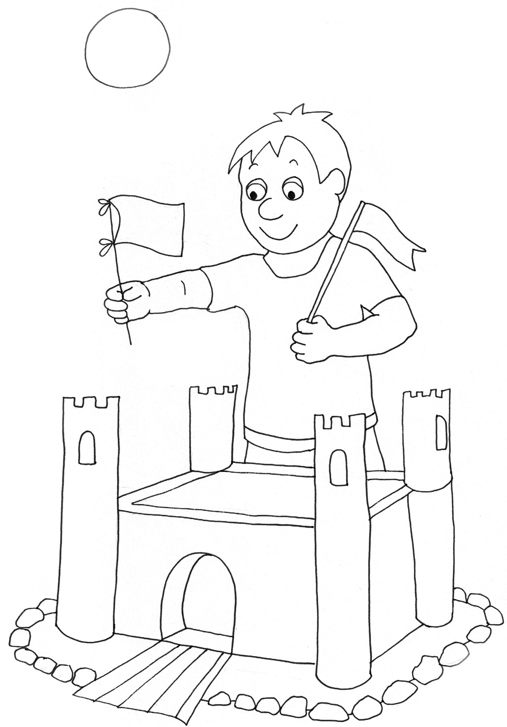 Sand Castle clipart hot summer season Summer  sheet boy Coloring