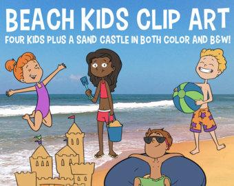 Sand Castle clipart hot summer season Clip Beach Beach Kids Etsy