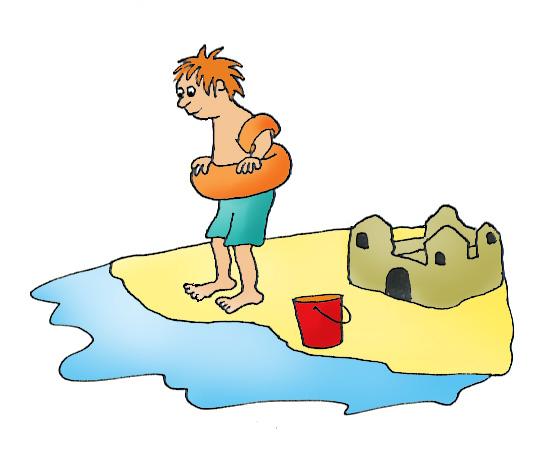 Sand Castle clipart hot summer season Summer  art bathing Clip
