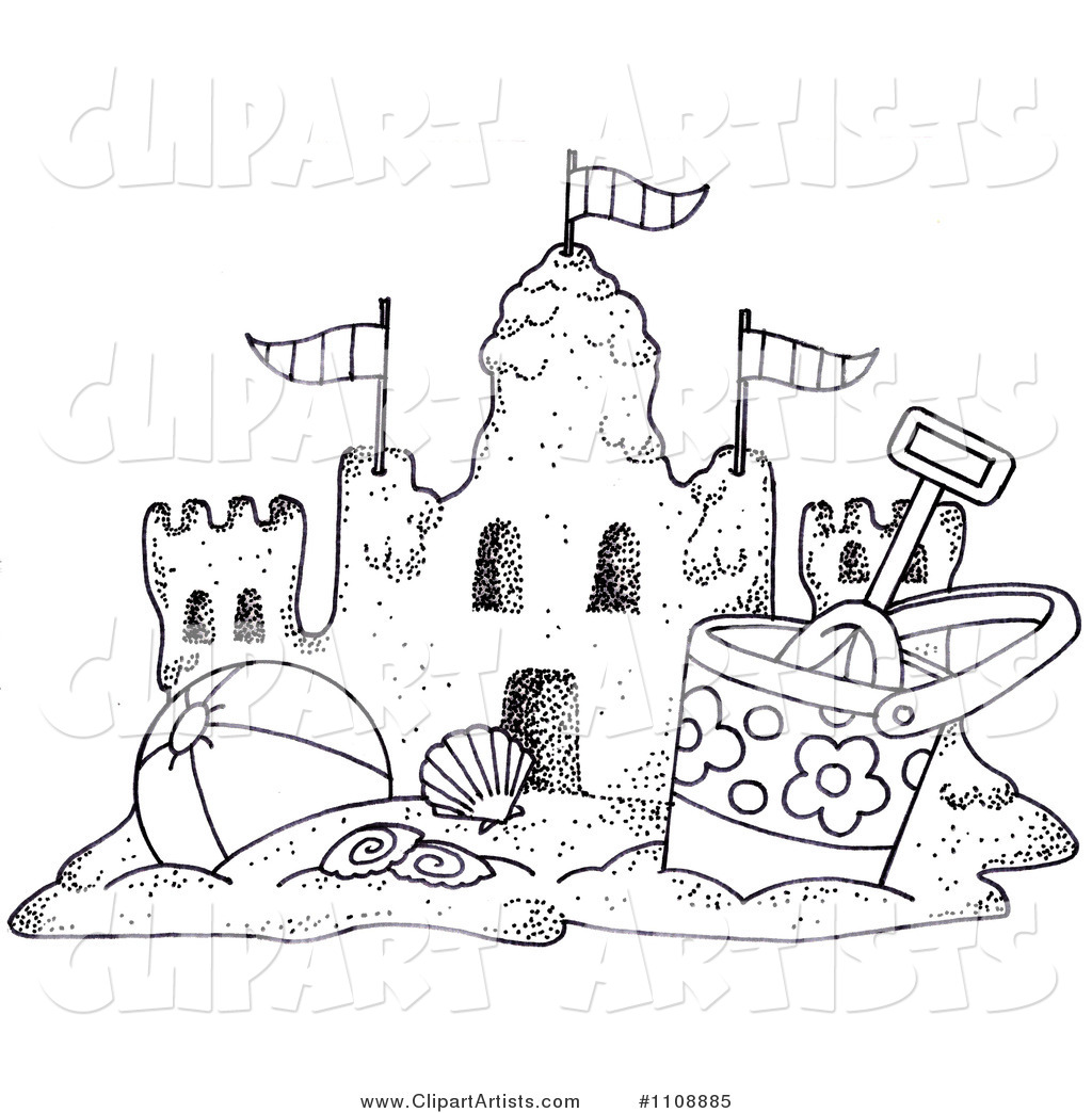 Sand clipart black and white #8