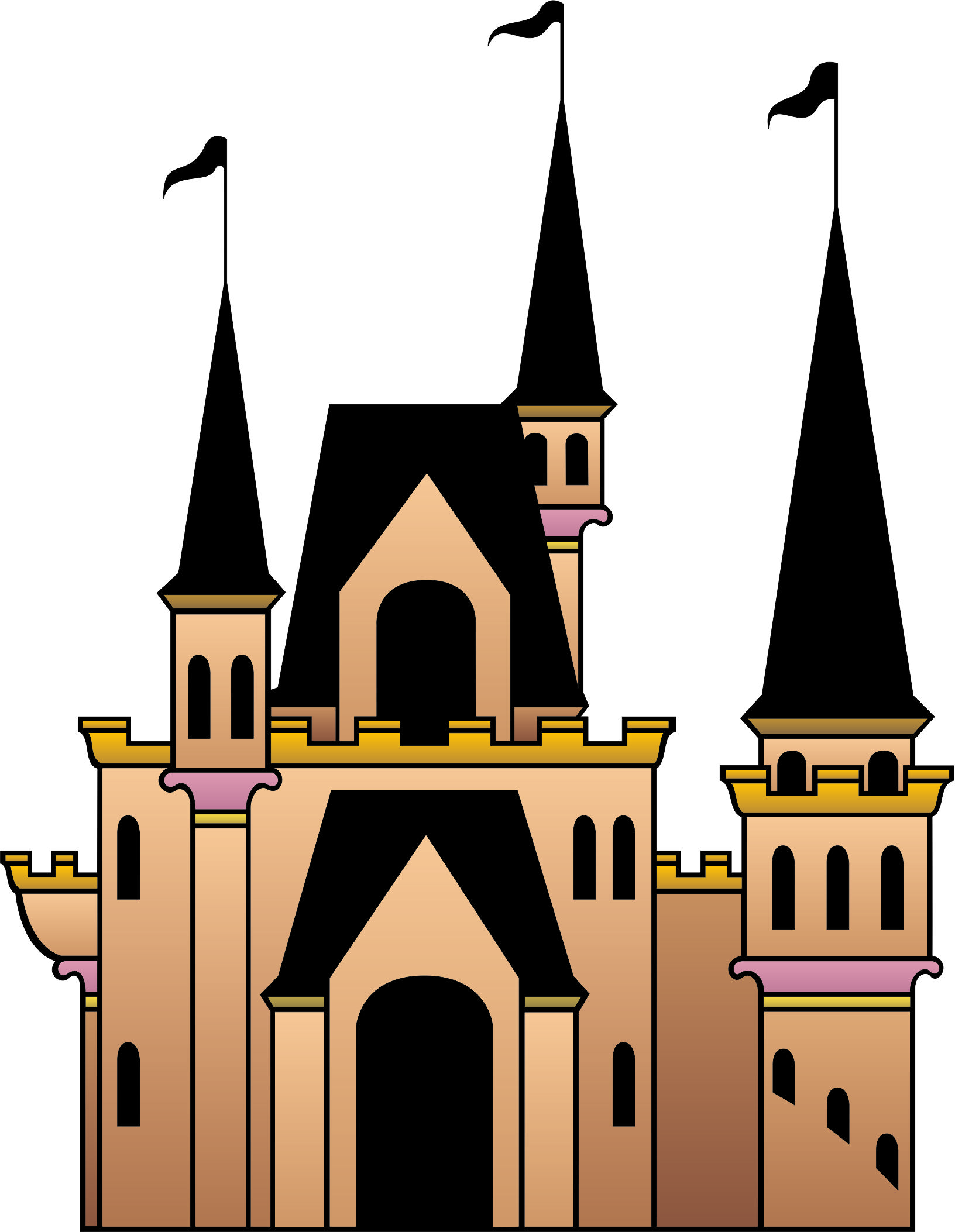 Castle clipart pink purple Cartoon Clip Free Free Art