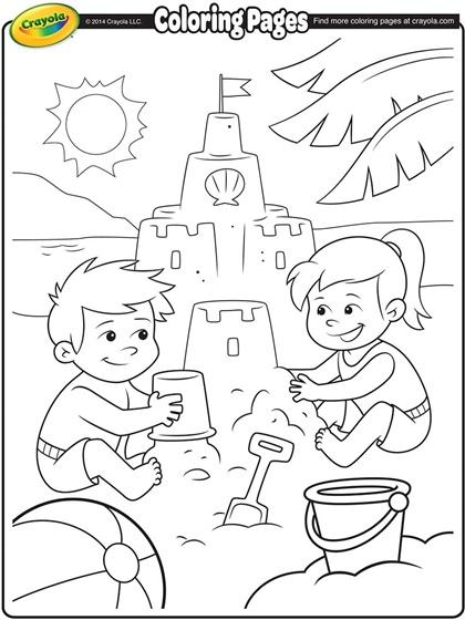 Sand Castle clipart summer activity Sand your this coloring your