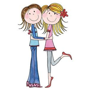 Alone clipart black and white Sisters Sharing Pinterest best 1244