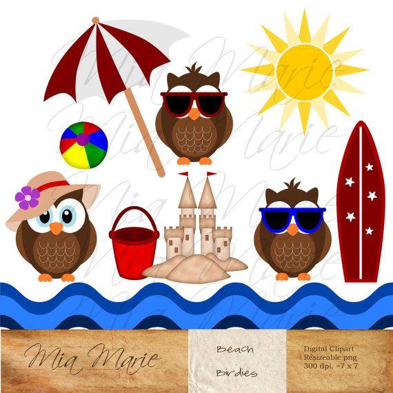 Surfboard clipart summer beach #15