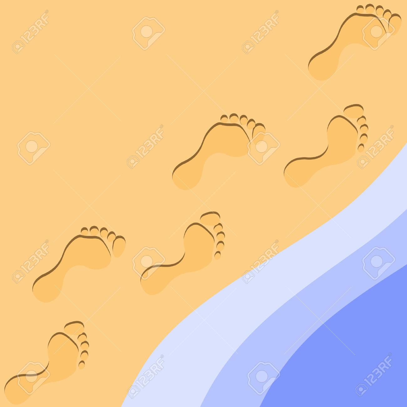 Sand clipart footprint #6