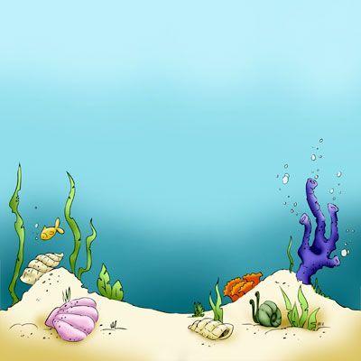 Seaside clipart ocean scene #11