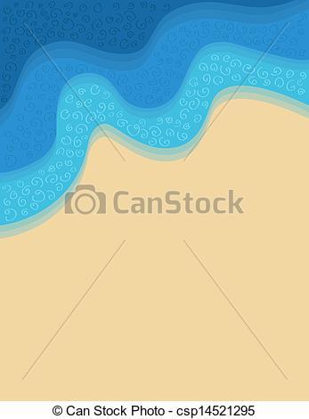 Sand clipart seashore Csp14521295 seashore of sand Vector