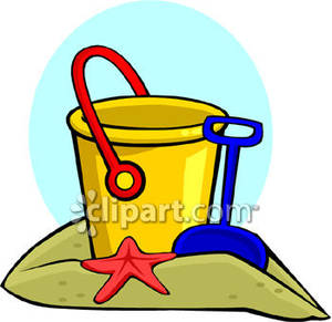 Beach clipart pale  Clipart Sand And Bucket