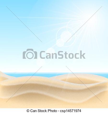 Sand clipart vector Sand background csp14571974 beach