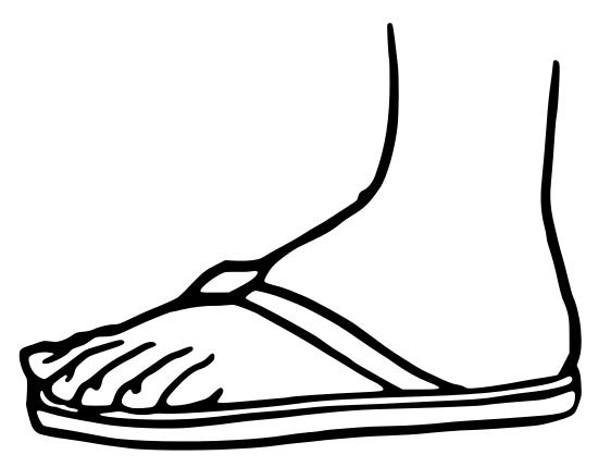 Sandal clipart #8