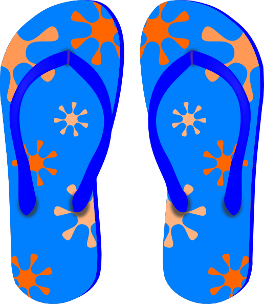 Sandal clipart beach theme #5