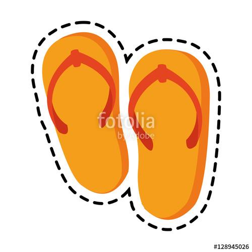 Sandal clipart beach theme #9
