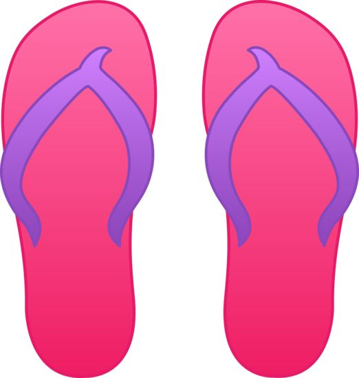 Sandal clipart beach theme #7
