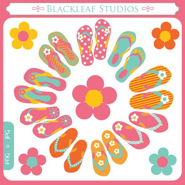 Sandal clipart beach theme #4