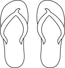 Sandal clipart black and white #7