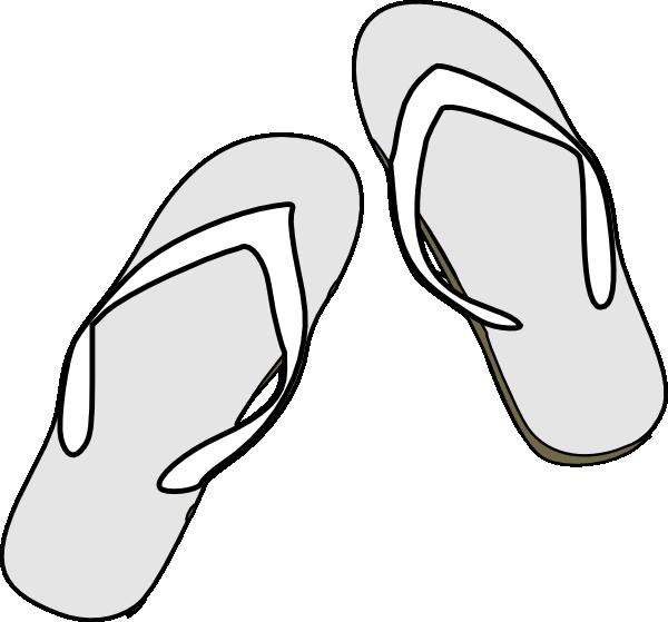 Sandal clipart black and white #6