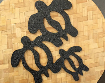 Sandal clipart hawaiian petroglyph Style Art turtle family ke
