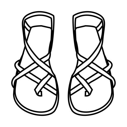 Sandal clipart jesus COLORING PAGES Sandals  COLORING