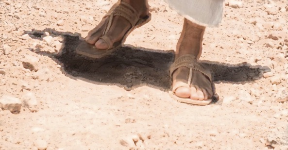 Sandal clipart jesus Walking Jesus information With Clipart