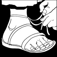 Sandal clipart jesus Me coming I am worthy
