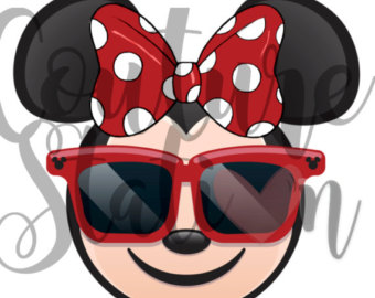 Sandal clipart red sunglass Printable on INSTANT Minnie DOWNLOAD