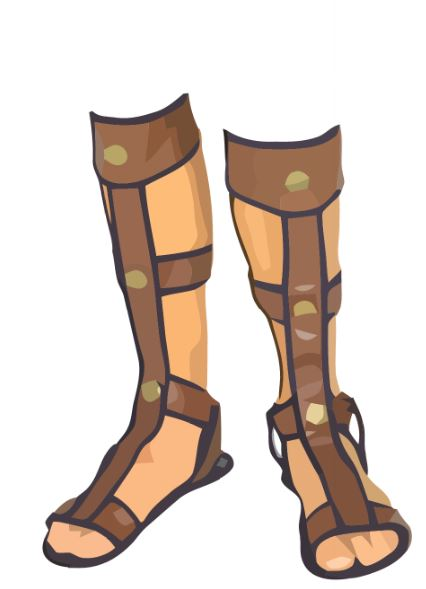Sandal clipart roman – Art Clothes Clip Sandals